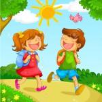 19113553-kids-going-to-school-Stock-Vector-school-children-cartoon