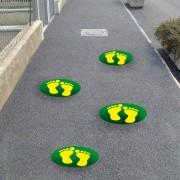 orme verde-chiaro-giallo